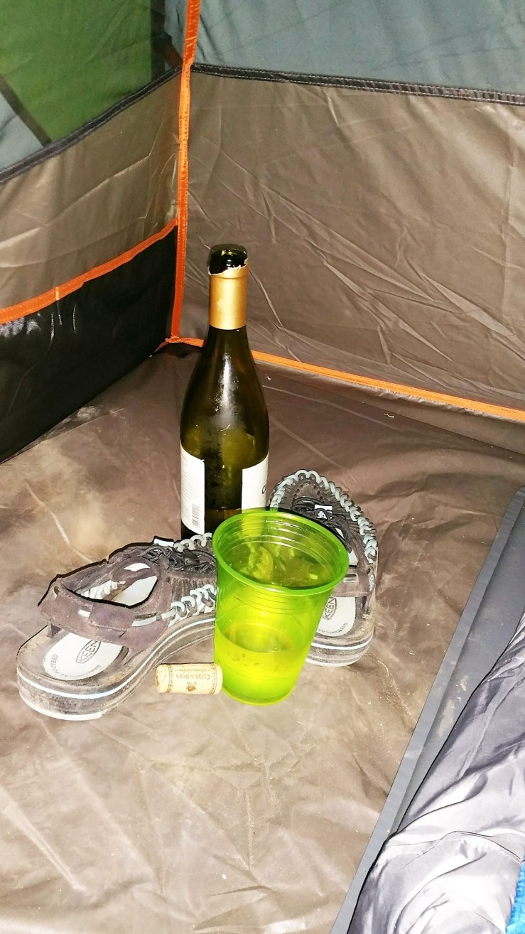 Tent and wine