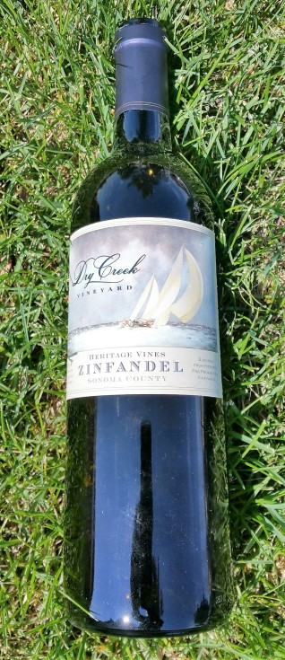 Dry Creek Zin on grass
