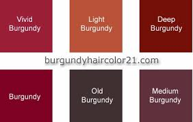 burgundy colors