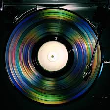 vinyl record w color