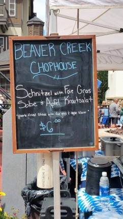 Schnitzel kicked up a notch from the Beaver Creek Chophouse
