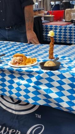 Yes, wienerschnitzel on a stick