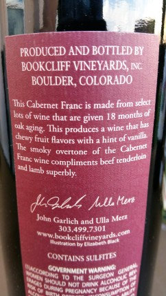 Vineyards description of the Cabernet Franc